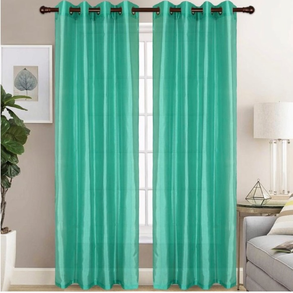 Glory Home Design Other - Christina Faux Silk Grommet-Top Panel_TurquoiseSS